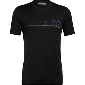 Icebreaker Tech Lite Single Line Camp T-shirt Col ras-du-cou Homme, black